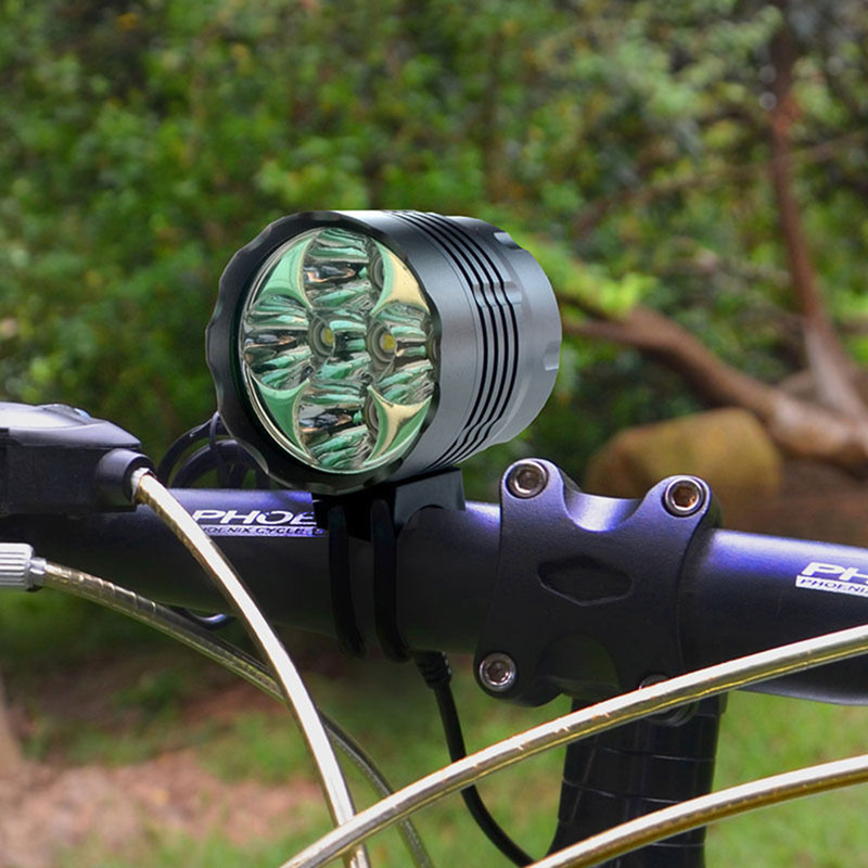 5Pcs Bicycle Bike Front Light Ultra Bright 8000LM LED Mountain Bike Bicycle Head Light Cycling Accessories