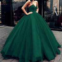 2020 New Hunter Green Quinceanera Dresses Strapless Ball Gown Formal Party Ceremony Graduation Long Prom Gown robe de soiree