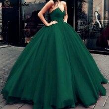 Женское бальное платье Hunter Green Quinceanera, длинное бальное платье без бретелек для выпускного вечера и торжественных случаев, 2020