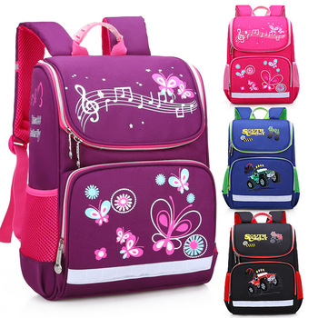 New Children School Bags Girls Butterfly School Backpack Kids Satchel Boy Car Knapsack Girl Backpack For School Space Bag