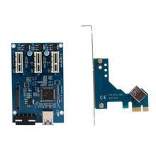 PCI-e Express 1X, Чтобы 3 Порт 1X Переключатель Множитель КОНЦЕНТРАТОР Стояка карты USB Кабель PCI card Высокое Качество Фондовой Розничной Упаковке Подарок #201