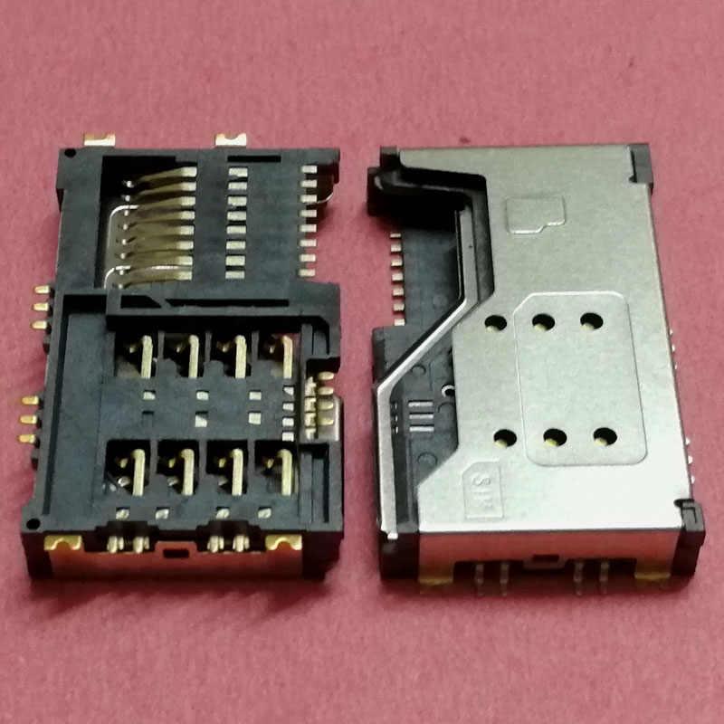 3 trong 1 Hai SIM Thẻ Khay Đôi Khe Cắm khay Cổng Kết Nối cho Lenovo A60 P700 P700I A789 A65 P70 Ổ cắm