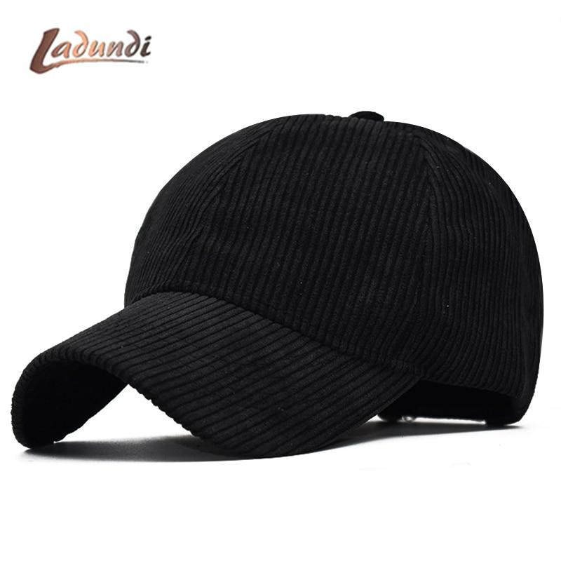 413fd8ce Black Corduroy Baseball Cap Men Snapback Hats Caps Men Flexfit Fitted  Closed Full Cap Women Gorras