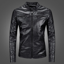2019 New Mens Leather Jackets Spring Fashion PU Youth Hundred Locomotive