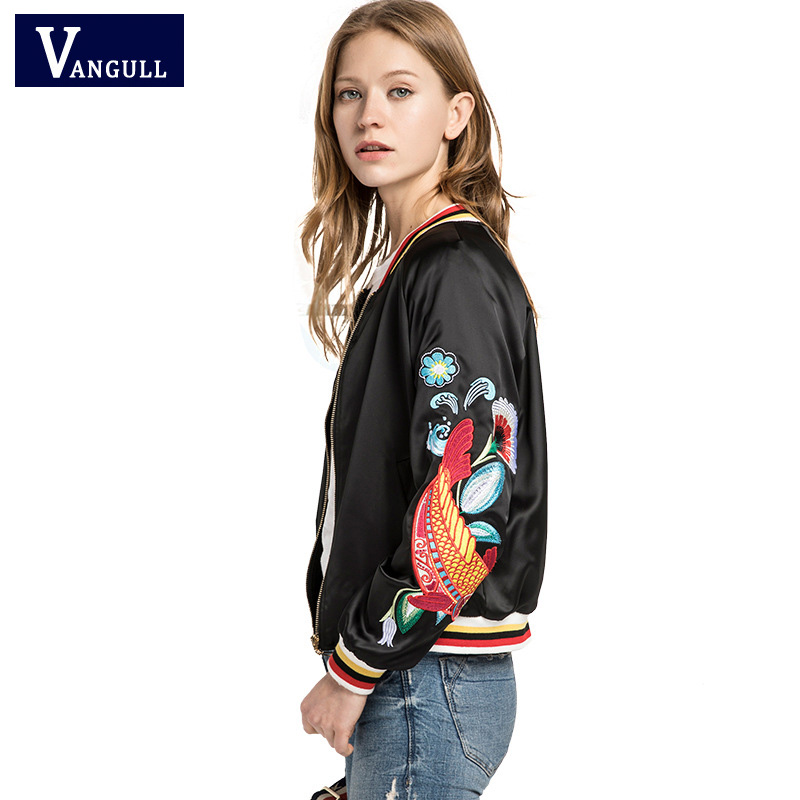 Women Embroidery Bomber jacket 2017 new winter Autumn clothing faux Baseball Coat Loose Type Souvenir Outweat Fashion Hot sale