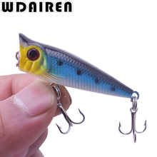 1Pcs 5cm 4.5g mini Crank bait Popper Fishing Lures 3d Eyes Bait Wobblers Poper Crankbait Artificial Japan Hard Bait Tackle Isca