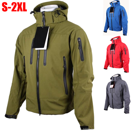 Mens Softshell Fleece Military Army Hunting Clothes Windstopper Waterproof Man Outdoor Jacket Men Hiking Camping Clothing S XXL In Jackets From