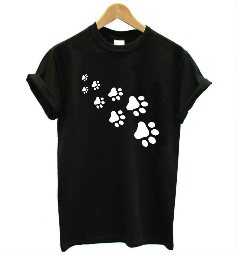 cat paws print Women tshirt 7