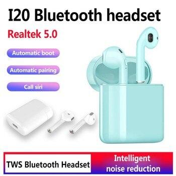 i20 TWS Pop up touch earphone wrieless charging 14.2 horn i20 tws Headphone Bluetooth 5.0 3D bass headset PK i10 i18 i12 i13 i15