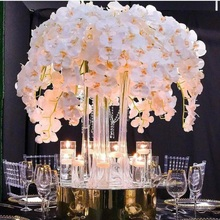 For Party Silk Orchid Artificial Flower heads ,butterfly orchid Flowers for Wedding Decoration