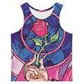 2016 novos homens de moda Plus Size 6XL Tops verão sem mangas colete básico gráficos flores dos desenhos animados impresso homem do tanque Top Vest Vintage