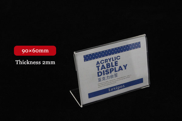 90x60mm 20pcs tag ticket card display stand l acrylic for Tag table html