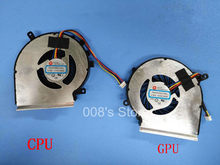 New CPU GPU OEM Fan 4 Pins For MSI GE72 GE62 PE60 PE70 GL62 GL72 ms-16j3 GE62VR GP62MVR MS-16J8 MS-16JB Cooler PAAD06015SL(China)