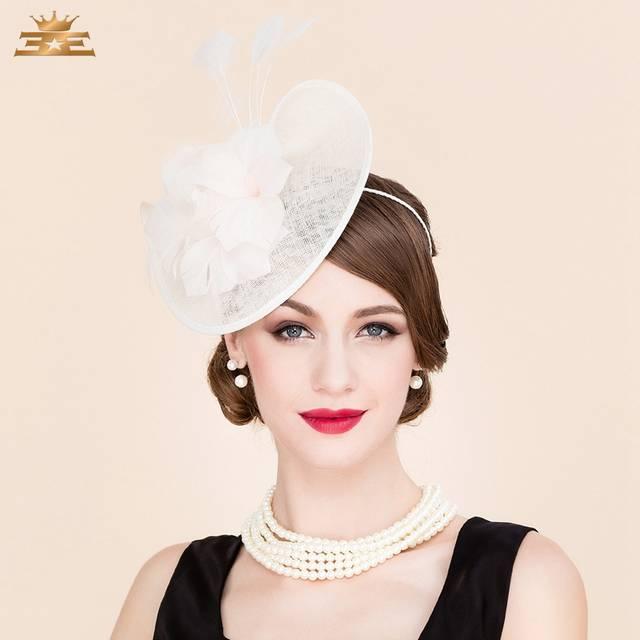 5681fa670 Summer New Linen Banquet Cap Elegant British Style Aristocratic Pillbox Hat  for Women Wedding Dress Derby Hats B-7544
