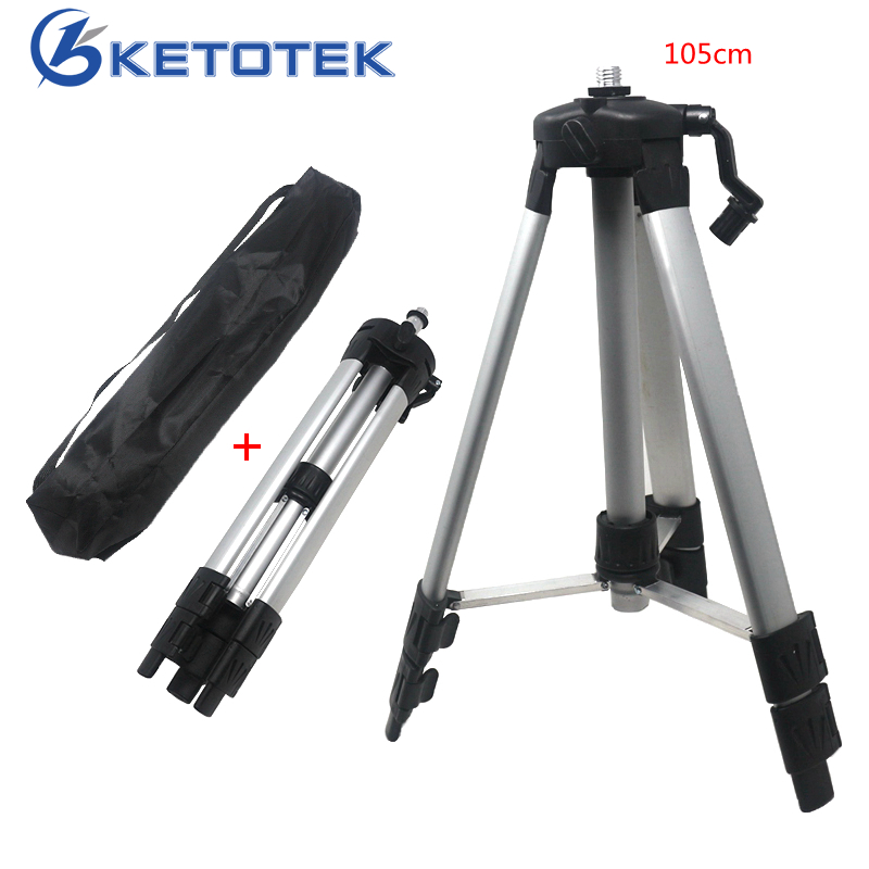 цены 105cm Laser Level Tripod 5/8'' Connector Adapter Carbon Aluminum Tripod for Laser Level