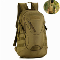 GYKZ 20L Waterproof Backpack Military Tactical Molle Army Bag Camping Hiking Rucksack Durable School Bag Outdoor Bag