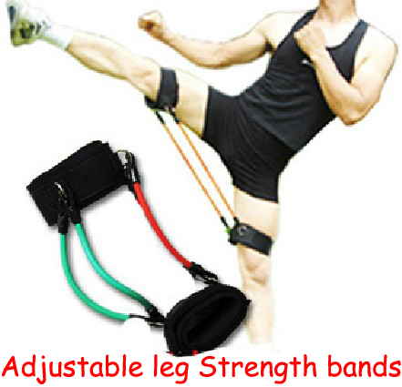 Dutiful Pro Adjustable Leg Strength 15-45 Pounds Resistance Bands Tensile Football Taekwondo Kickboxing Thai Boxing Training Sports & Entertainment Fitness Equipments