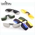 Laura hadas polarizadas marco de la abrazadera Brand Ultra light miopía noche lente de visión gafas de sol Clip hombres mujeres