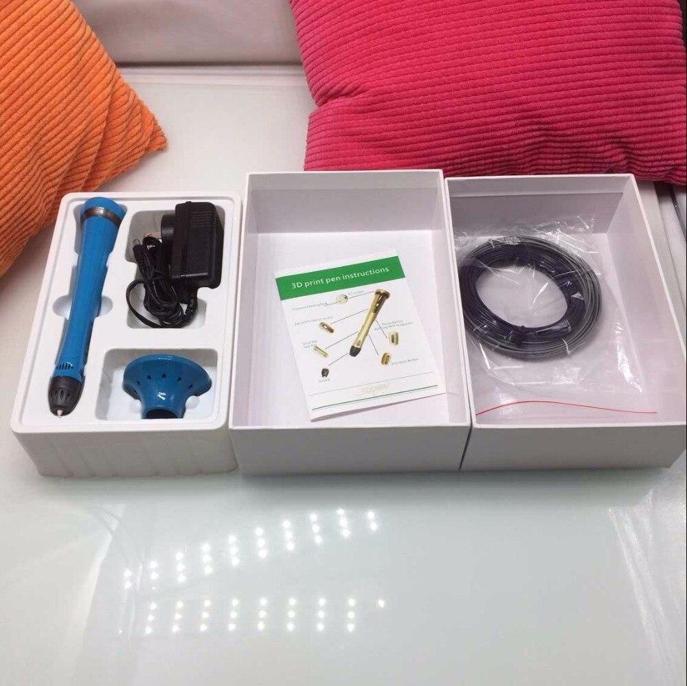 ФОТО 5pcs/lot 2015 Magic 3D Printing Drawing Pen 3d pen video First Generation 3d doodle with 2 rolls ABS Filament Free Ship