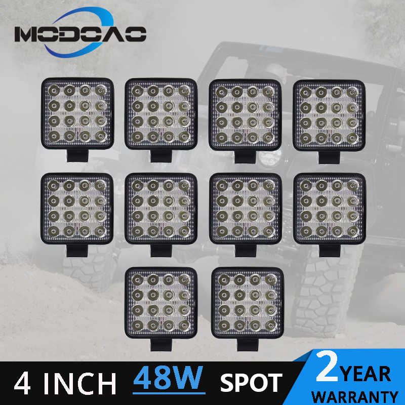1~10pcs 48W led work light lamp car 4x4 ATV LED working lights  12V 4.17 inch Truck Tractor LED Work Light Spot lights