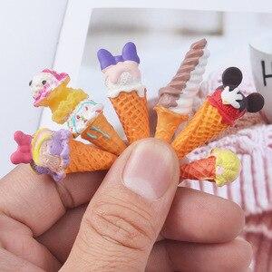 Image 3 - Boneca re mento em miniatura, 8 peças, brinquedos de fingir, mini, resina, sorvete, jogar, comida para blyth bjd barbies casa de bonecas brinquedos de cozinha
