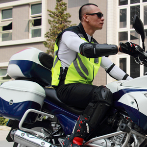 Image 4 - Motorcycle Jacket Reflective Vest High Visibility Night Shiny Warning Safety Coat for Traffic Work Cycling Team Uniform JK 22
