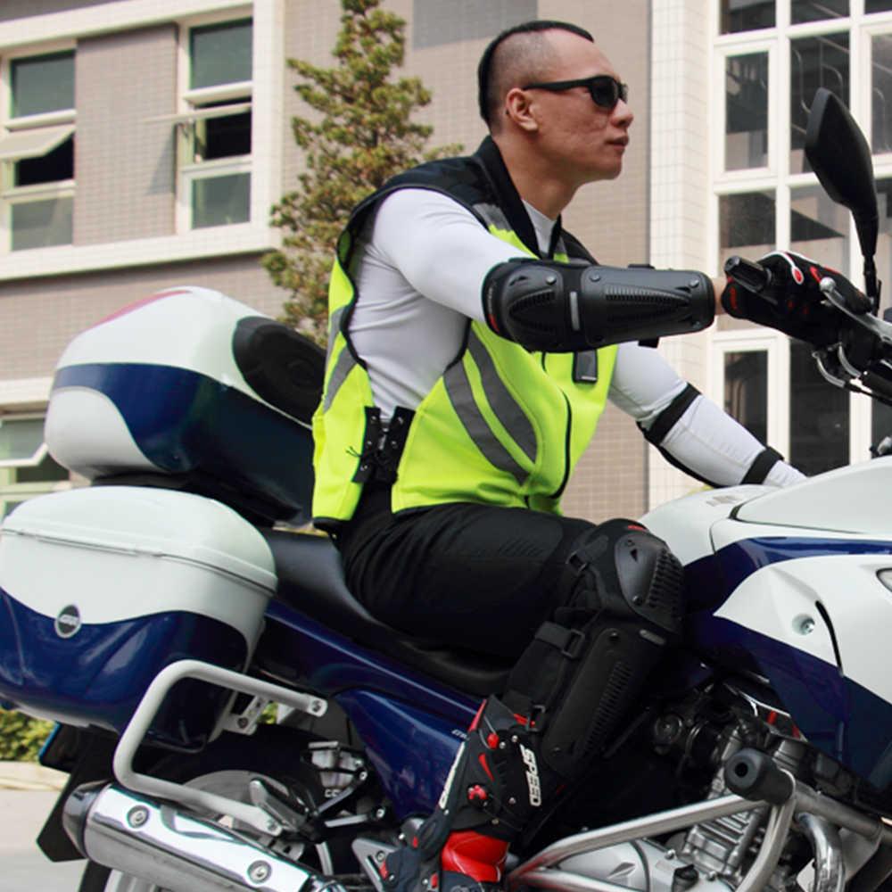 Motorrad Jacke Reflektierende Weste Hohe Sichtbarkeit Nacht Shiny Warnung Sicherheit Mantel für Verkehrs Arbeit Radfahren Team Uniform JK-22