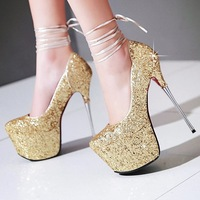Women Summer Pumps Women Party Shoes Platform Pumps Wedding Shoes Red Bottom High Heels Round Toe