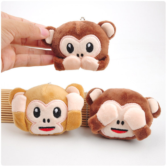 Differnt Color Cute Monkey Plush Toys Colorful Monkey Curtains