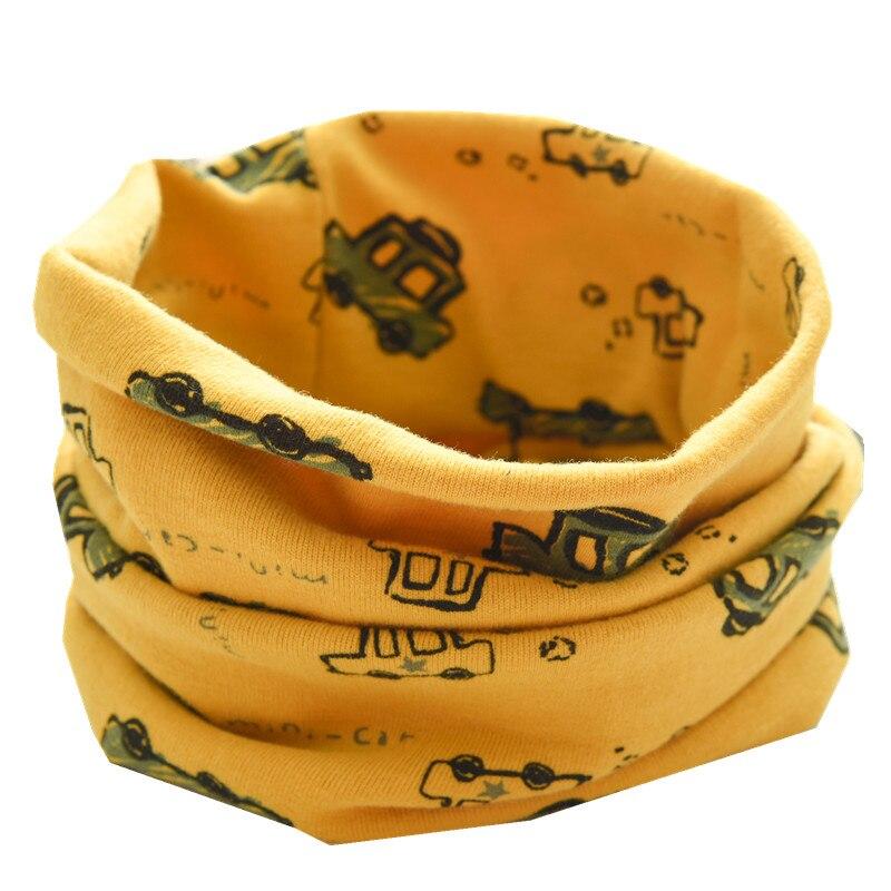 Новинка; сезон осень-зима; шарф из хлопка для девочек; Детский шарф; нагрудный шарф для мальчиков и девочек с круглым кольцом; милый детский шарф с воротником; Bufandas - Цвет: yellow car