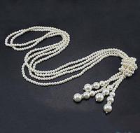 Новый Arriver Ювелирные изделия из жемчуга оптовая продажа белый картофель пресноводный жемчуг 40 ''Длинные жемчужное Цепочки и ожерелья