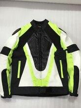 Motocicleta jaqueta impermeável Oxford pano 600D corcunda jaqueta PU jaqueta de couro de corrida de equitação para dain verde