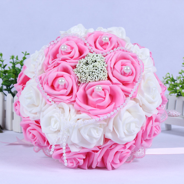 2017 in stock purplepinkred wedding flowers white bridesmaid 2017 in stock purplepinkred wedding flowers white bridesmaid bridal bouquets artificial rose mightylinksfo