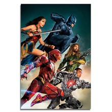 "The Justice League Silk Poster Hot MOVIE Wall Art POSTER Super Heroes Prints Superhero Picture Decoration 24""X36""(China)"