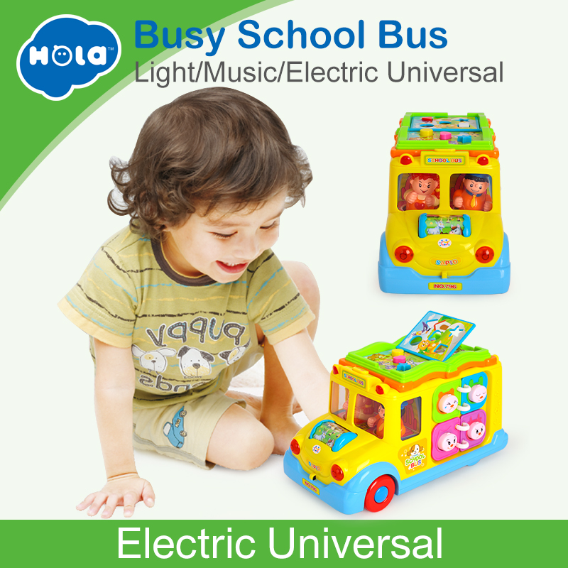 цена на Electric School Bus, Children Music Car Including 8 Games, Car Horn Songs Animal Calls, Early Educational Toys for Children Gift