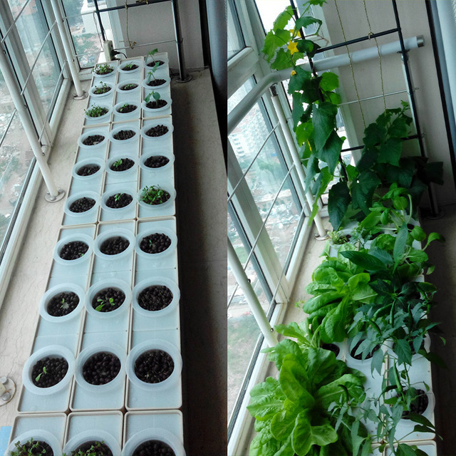 dos conjuntos de bricolaje cultivar hortalizas en casa o sistema de cultivo hidropnico balcn sin montar