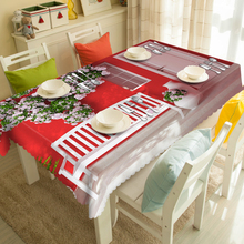 Simplicity Flowers Wall Pattern 3d Tablecloth Restaurant Textile Thicken Polyester Waterproof Rectangular&Round Table cloth