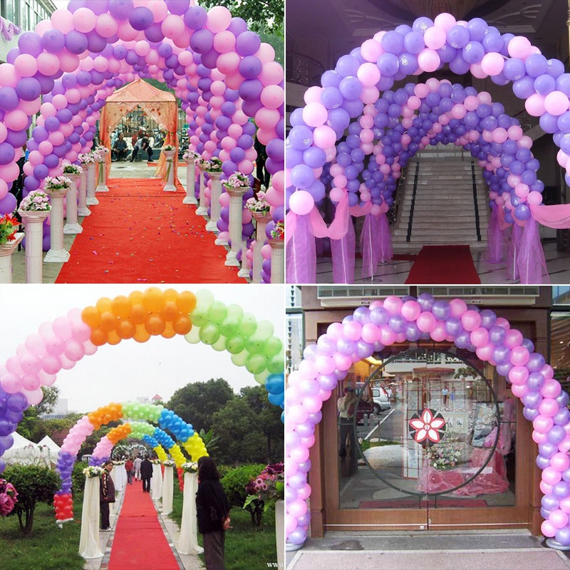 cheap 100pcs 10'' 1.2g Round Shape Latex Pearl Balloons Party Decorate Valentine's Day Happy Birthday Wedding Decoration Balloon 8
