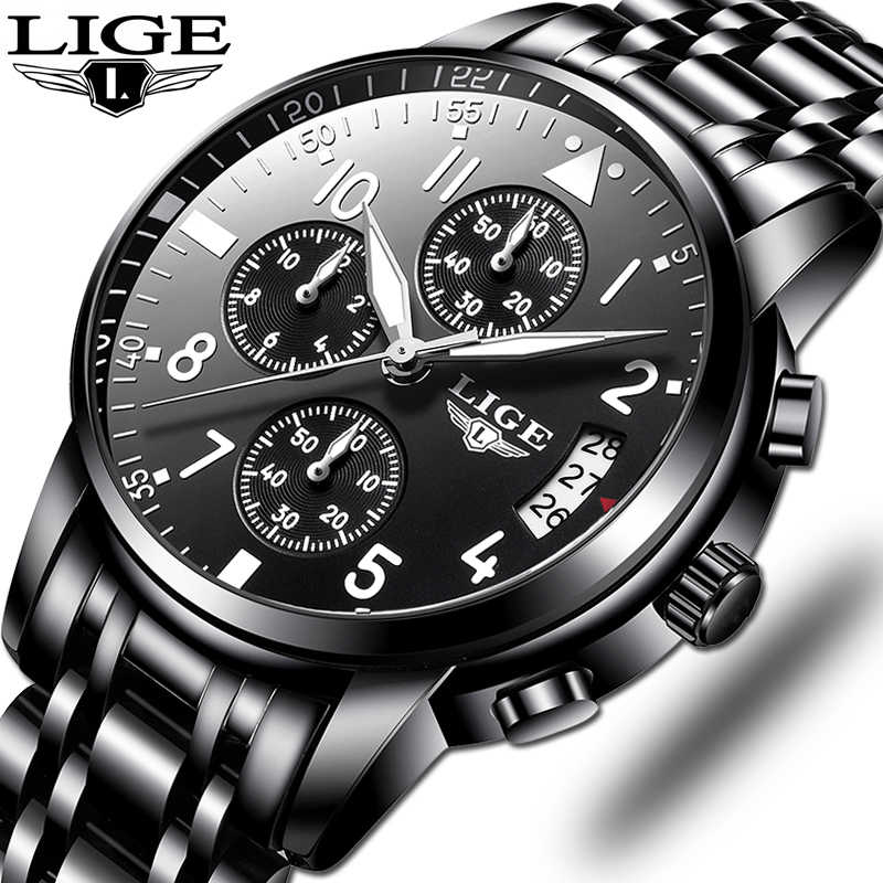 Relogio Masculino Mens Watches Waterproof Quartz Business Watch LIGE Top Brand Luxury Men Casual Sport Watch Male Relojes Hombre