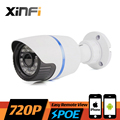 XINFI HD 720P CCTV POE camera night vision indoor / outdoor Waterproof network CCTV 1280*720P IP camera P2P ONVIF remote view
