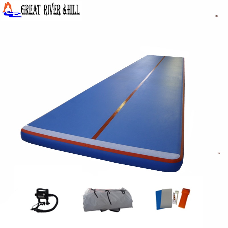 Good quality gymnastic landing mat inflatable air track 10m*2m