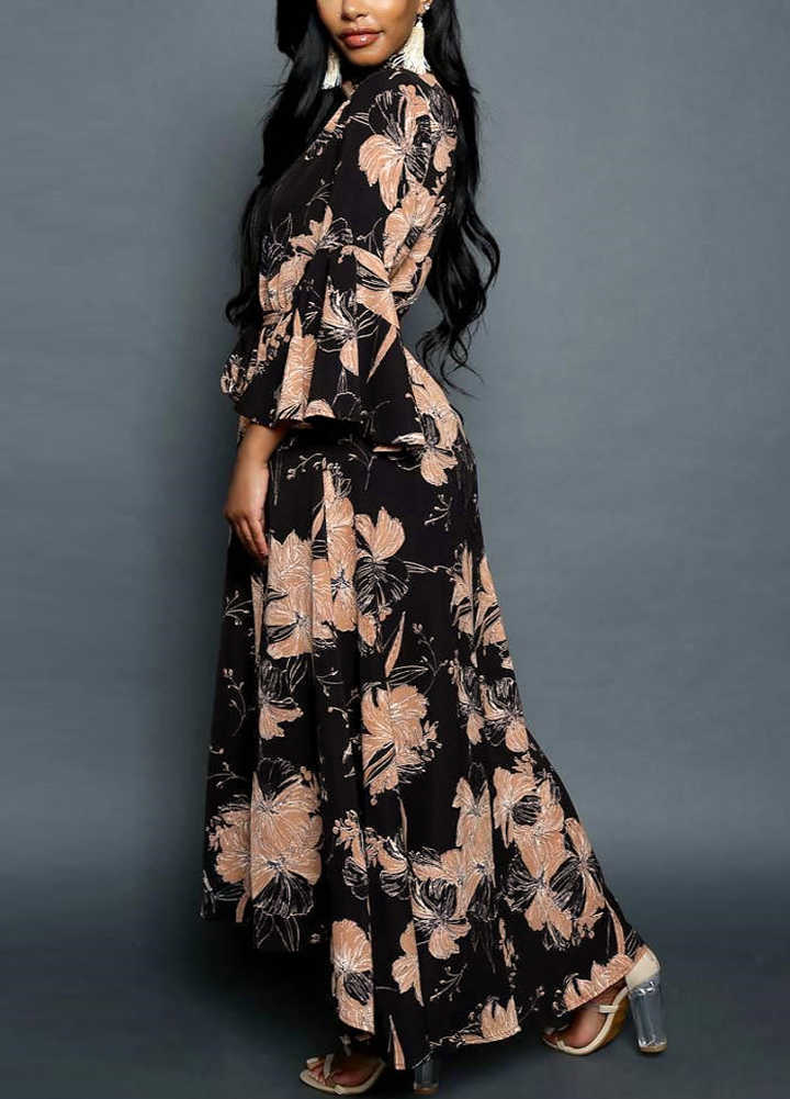 6cc5101754ff5 Detail Feedback Questions about FeiTong women vintage print maxi ...