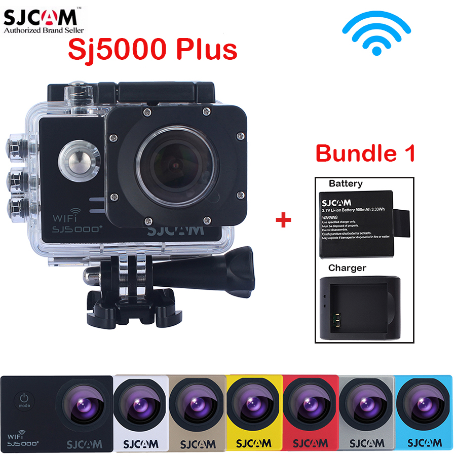 Extra Battery and Charger , Original SJCAM SJ5000 Plus Mini WiFi Action HD Camera 30M Waterproof Sports Sj 5000 Plus Cam DVR original sjcam m20 wifi 4k 24fps 30m waterproof sports action camera sj cam dvr 2 extra battery dual charger remote monopod