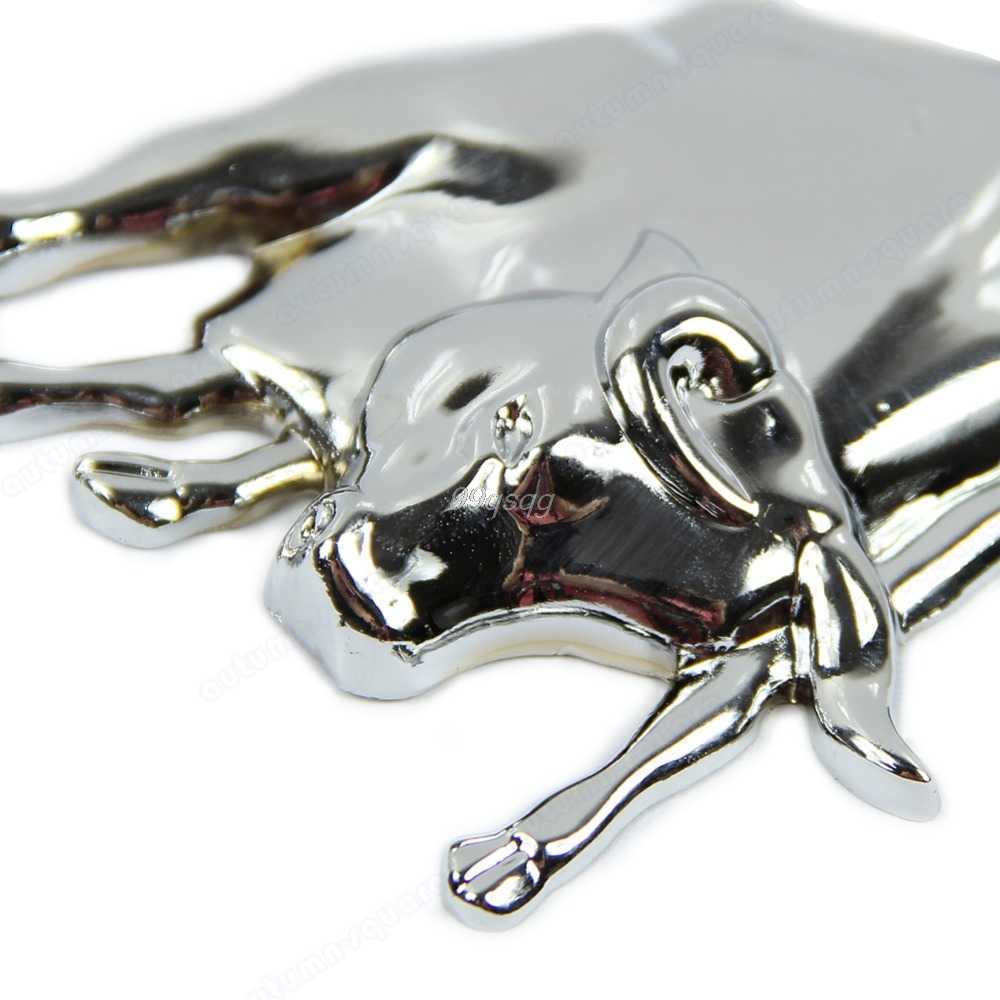 新しい 3D 銀色のクローム金属雄牛牛エンブレム車のトラックモーターステッカーオートデカールドロップ無料