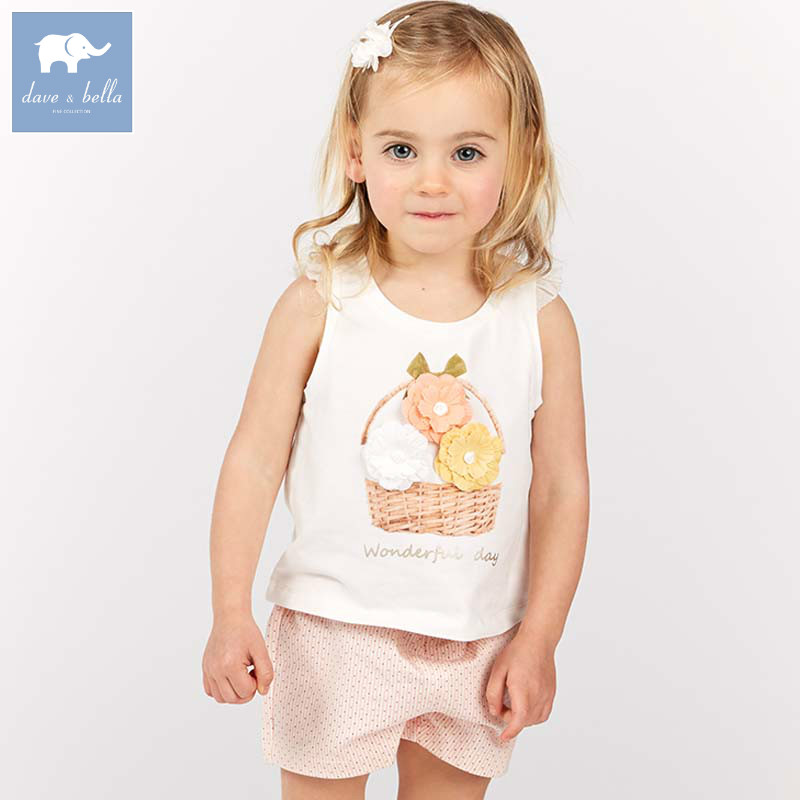 DB7668 dave bella summer baby lovely flowers clothing sets children infant toddler suit kids high quality clothes girls outfits DB7668 dave bella summer baby lovely flowers clothing sets children infant toddler suit kids high quality clothes girls outfits