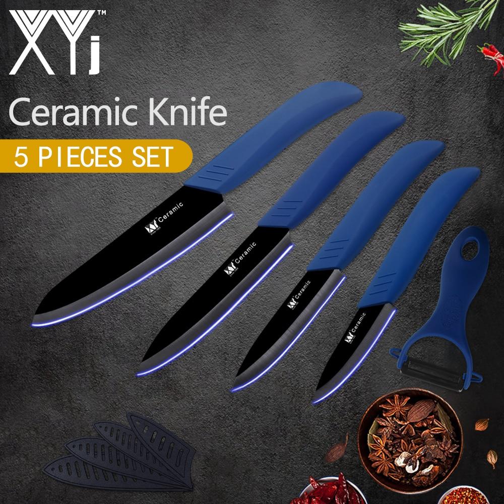 XYj Kitchen Cooking Knife Black Blade 3 4 5 6 Ceramic Paring Fruit Veg Meat Sushi Fish Sashimi Kitchen Knives Ceramic Knife