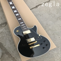 New high quality Black custom electric guitar, Rosewood fingerboard electric guitar with Gold hardware, free shipping