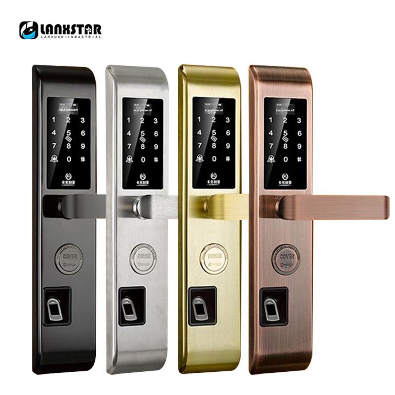 Mot de passe numérique RFID déverrouiller APP carte bouton Bluetooth APP empreinte digitale sécurité porte serrure intelligente universelle ménage porte serrure