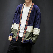 Chinese Style Sun protective Thin Jackets Men Contrast Color Patchwork Long Sleeve Outdoor Coats 2019 Summer Fashion Clothing