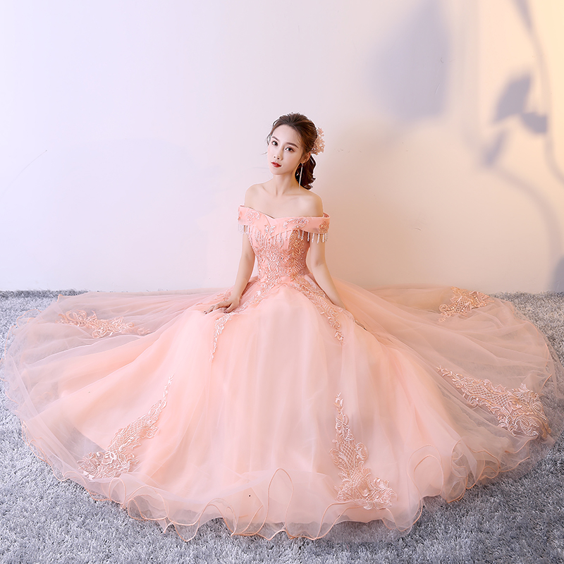 100%real pink tassels embroidery rococo ball gown court medieval dress renaissance Gown queen Victorian /Marie/drama/ball gown